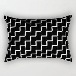 Black and white lines Rectangular Pillow