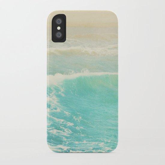 beach ocean wave. Surge. Hermosa Beach photograph iPhone Case