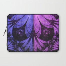 Beautiful Blue and Lilac-Violet Starling Feathers Laptop Sleeve