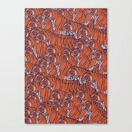 Tigers everywhere! Canvas Print