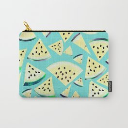 Watermelon Twist Vibes #4 #tropical #fruit #decor #art #society6 Carry-All Pouch