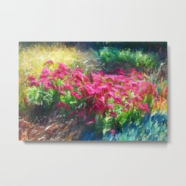 Vibrant Floral Painting Metal Print