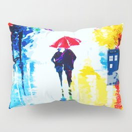 Tardis Watching Romantic Night Pillow Sham