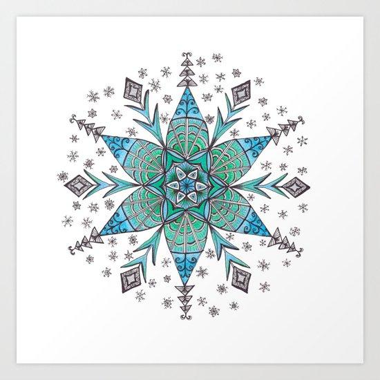 Snowflake Mandala by katealli