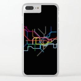 London: Neon Underground Clear iPhone Case