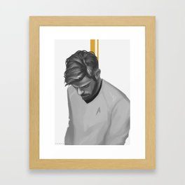 James T. Kirk Framed Art Print