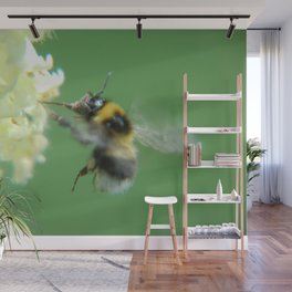 Busy Little Bee - Garden Photography by Fluid Nature Wall Mural