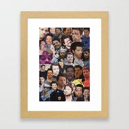 Misha Collins Collage Framed Art Print