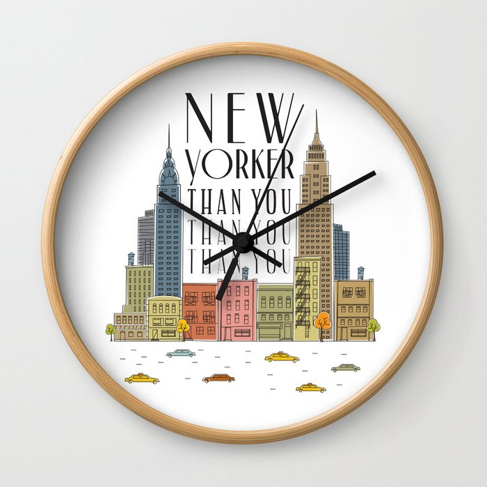 New Yorker Than You Wall Clock