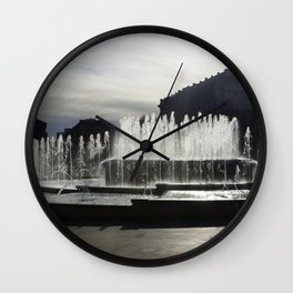 The Fountain Wall Clock