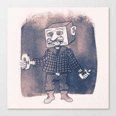 Mr Block Enjoys his Corporate Dividends Canvas Print