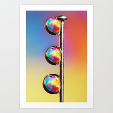 Tropical Pin Drop Art Print