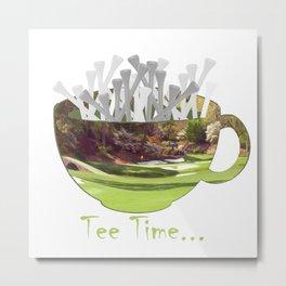 Tee Time Metal Print
