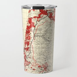 Map of Palestine Index to Villages & Settlements 1940's Travel Mug