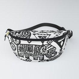 Beautiful boho pattern Indian Elephant with ornamental. Hand drawn ethnic tribal decorated Elephant Fanny Pack