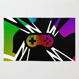 Rainbow Gamer Controller Rug