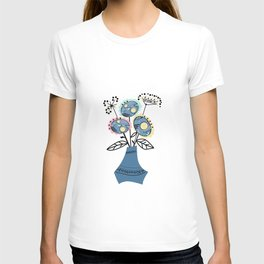 Quilling, flowers in vase 2 T-shirt