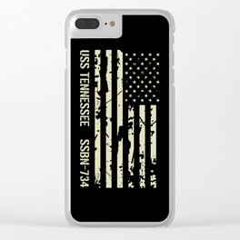 USS Tennessee Clear iPhone Case