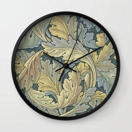 William Morris Acanthus Leaves Floral Art Nouveau Wall Clock