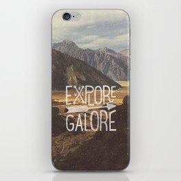 EXPLORE GALORE iPhone Skin