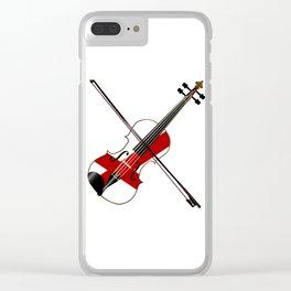 Alabama State Fiddle Clear iPhone Case