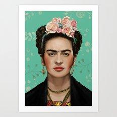 Frida Kahlo Portrait II Art Print