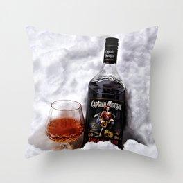 Ice Cold Captain Morgan Rum Throw Pillow
