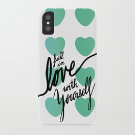 Fall in Love with Yourself hearts iPhone Case