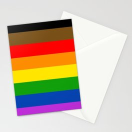 LGBTQ Pride Flag (More Colors More Pride) Stationery Cards