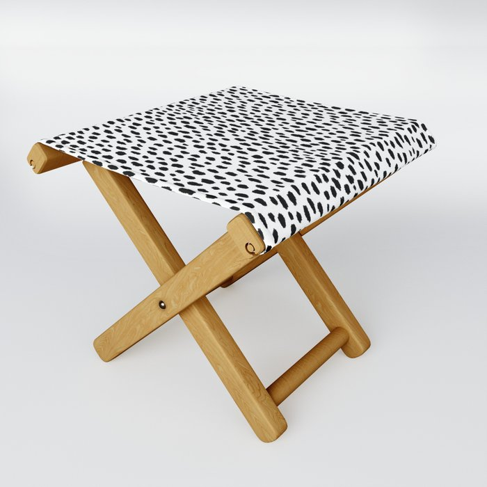 Dalmatian Spots (black/white) Folding Stool