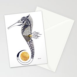Seahorse Guardian of the Golden Pearl Stationery Cards