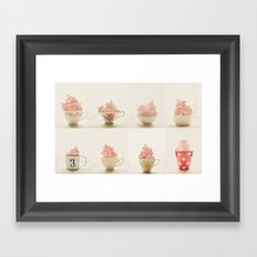 Sweet Pink Meringues  Framed Art Print