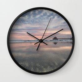 HB SUNSET 1-3-18 Wall Clock