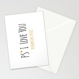 PS I Love you - Pumpkin Spice Stationery Cards