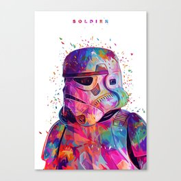 Soldier White Canvas Print