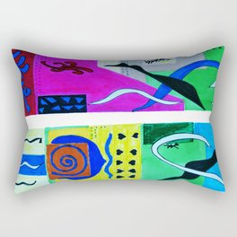 Paradise Color . Inspiration From Matisse Rectangular Pillow