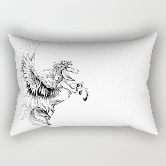 Pegasus (black stroke version for t-shirts) Rectangular Pillow