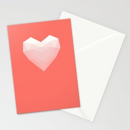 Modern Love - White on Pink Stationery Cards