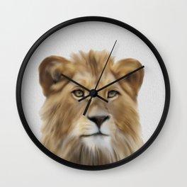Lion Print, Lion Printable, Safari Nursery, Digital Download, Lion Animal Print, Lion Wall Art, Black and White, Lion Photo, Nursery Decor Wall Clock
