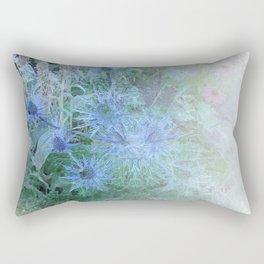 Blue Cone Flowers Rectangular Pillow
