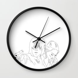 Wolves Come Home Wall Clock