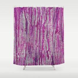 Encaustic Streaks (pink) Shower Curtain