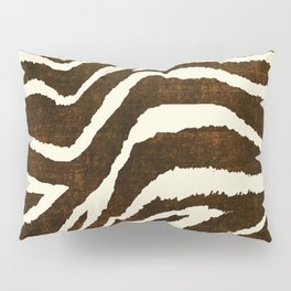 ANIMAL PRINT ZEBRA IN WINTER 2 BROWN AND BEIGE Pillow Sham