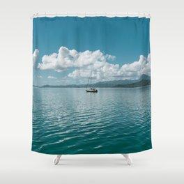 Hawaiian Boat Shower Curtain