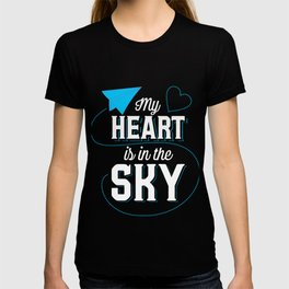 Pilot Gift My Heart Is In The Sky Print T-shirt