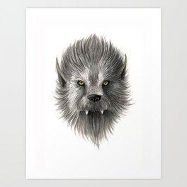 Werewolf beast Art Print