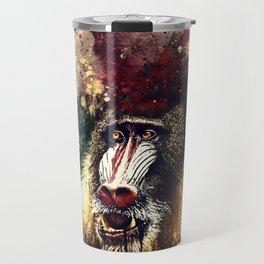 baboon monkey wsfn Travel Mug