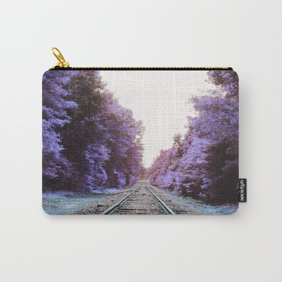 Train Tracks : Violet Blue Dreams Carry-All Pouch