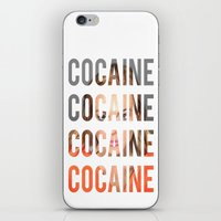 lindsay lohan iPhone & iPod Skins featuring LINDSAY LOHAN - COCAINE by Beauty Killer Art