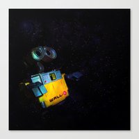 wall e Canvas Prints featuring Wall-E by Tanis Ketra